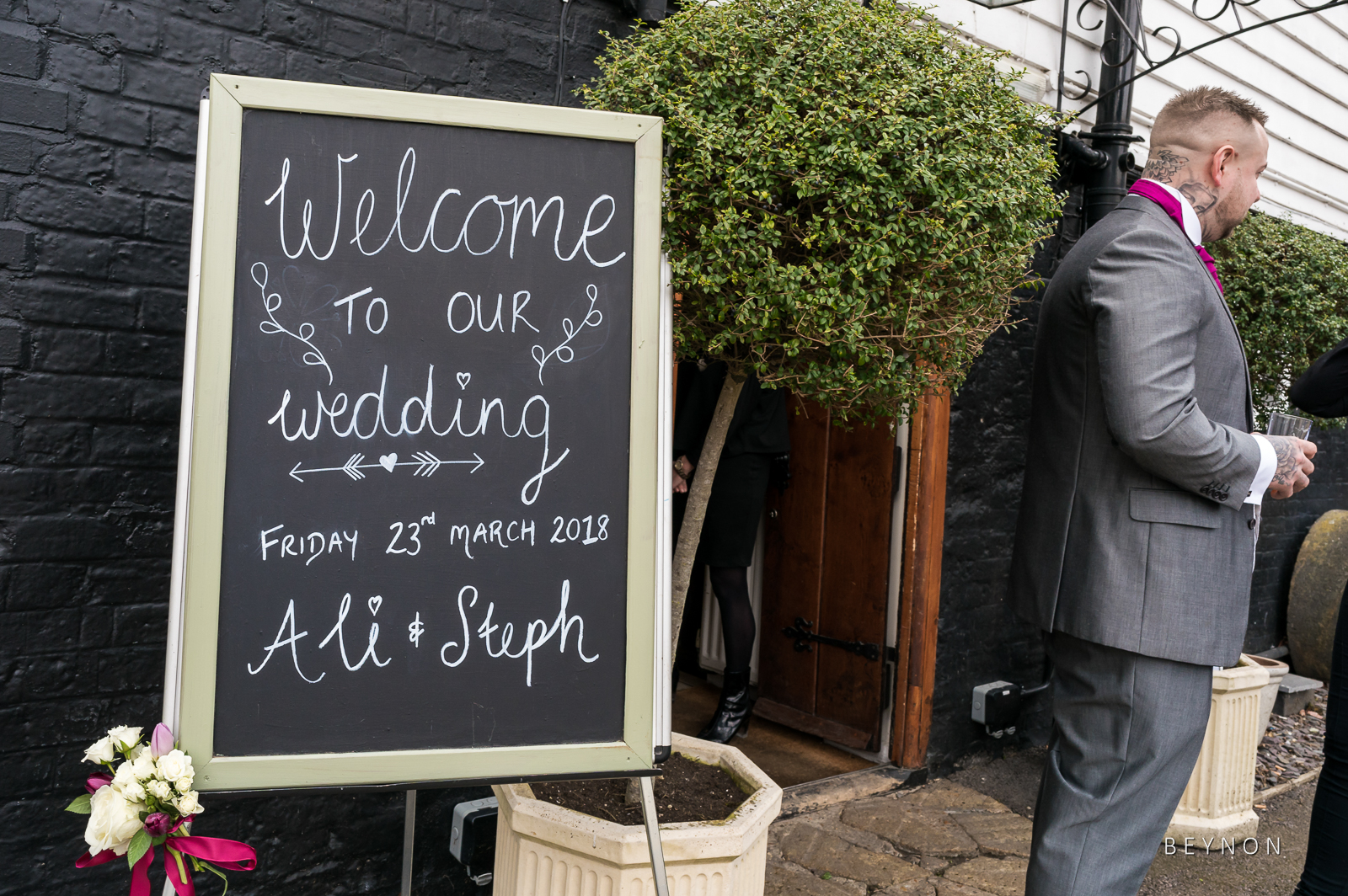 Welcome sign outside Sheene Mill