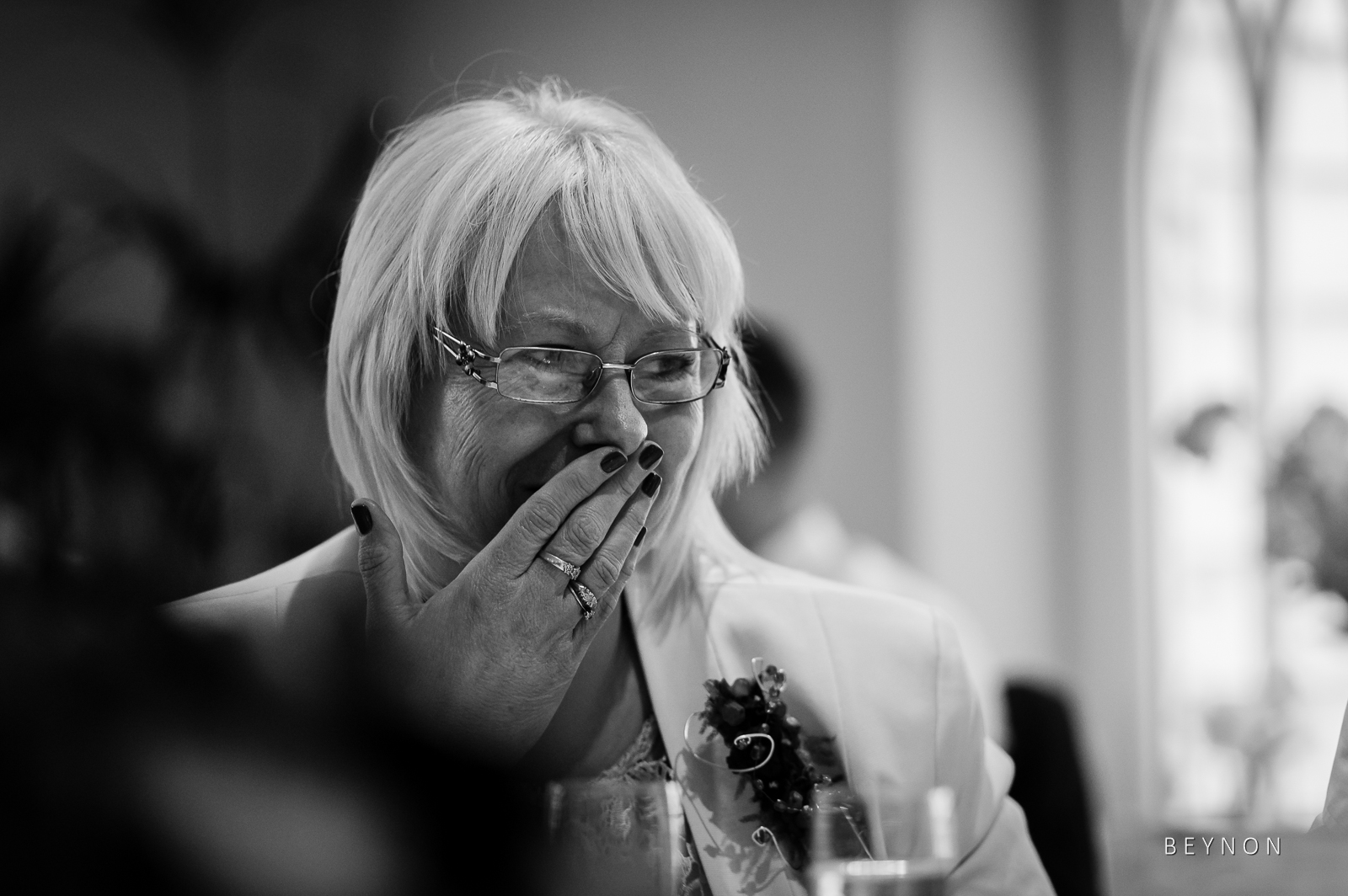 Mother of the groom is emotional
