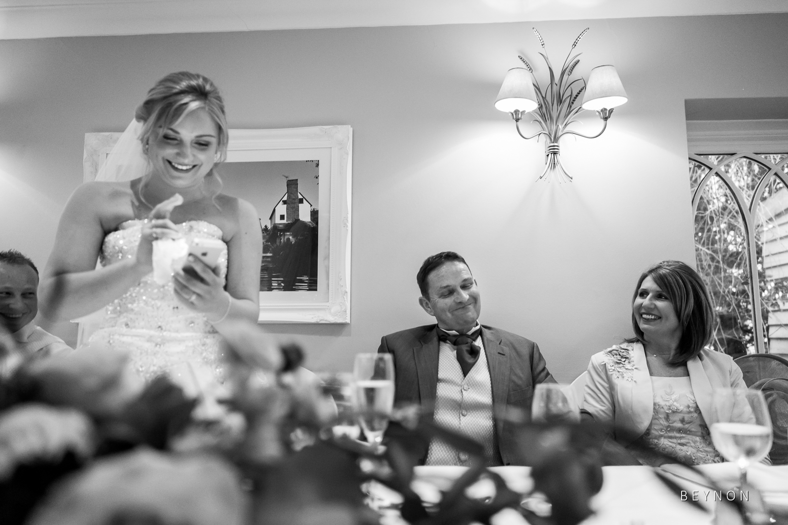 The Bride gives a speech