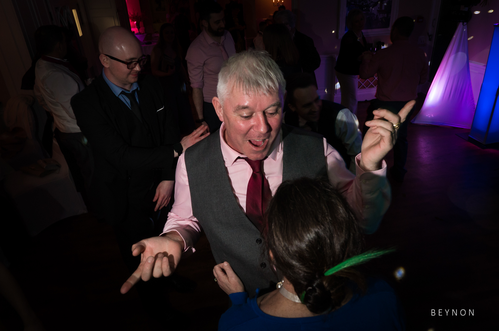 Wedding guest with good dance moves
