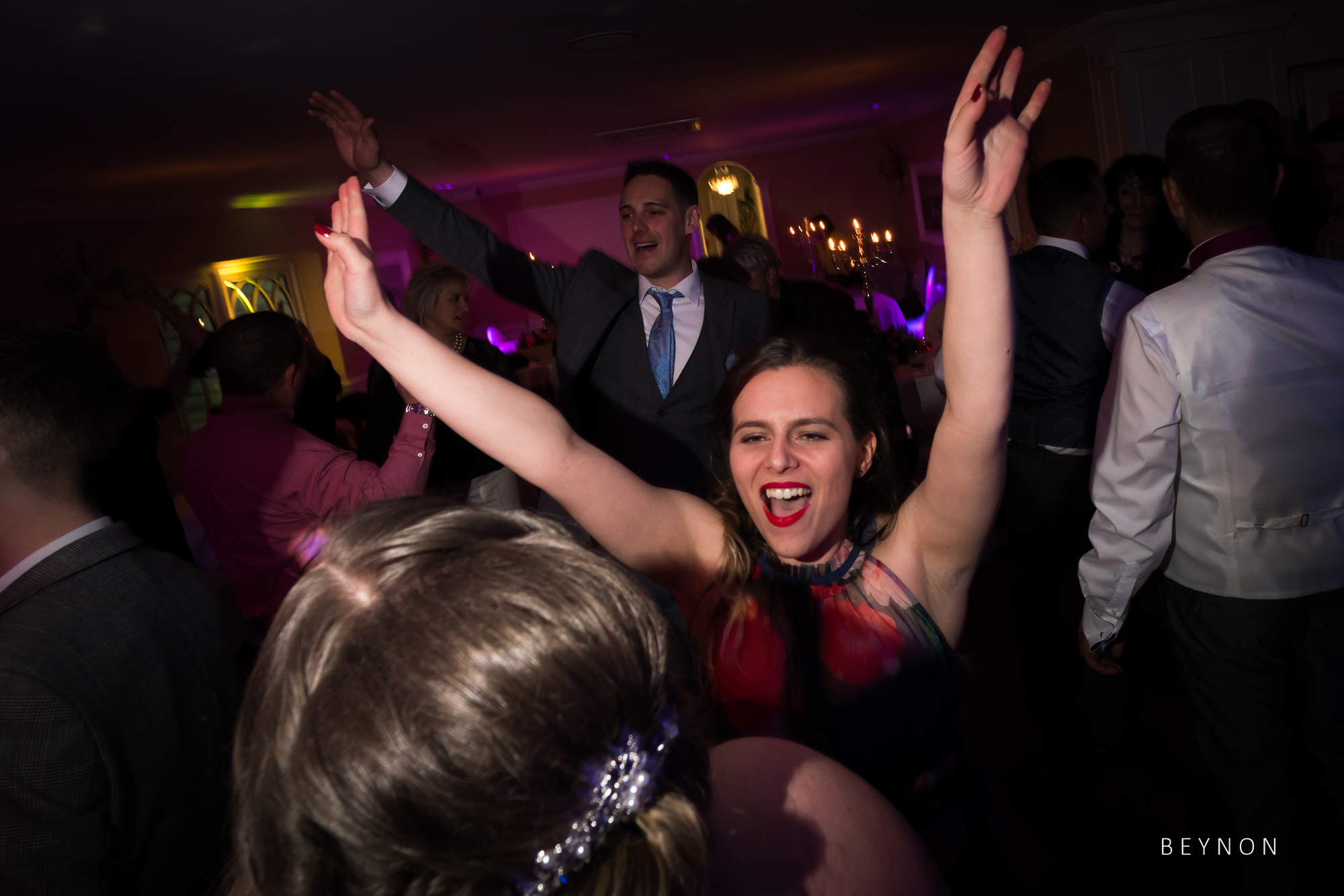 Lively Wedding Reception at Sheene Mill
