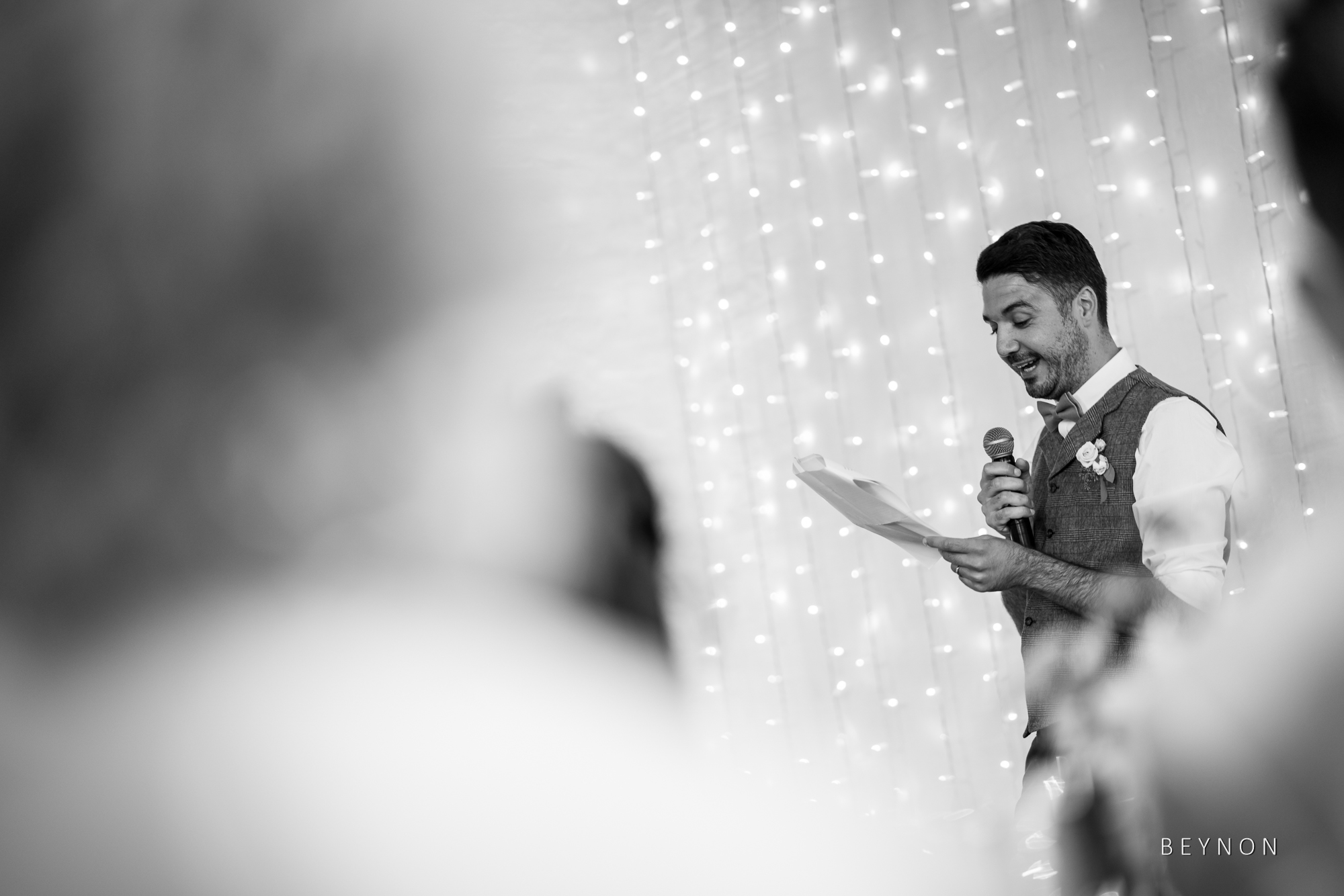 The Groom reads his notes