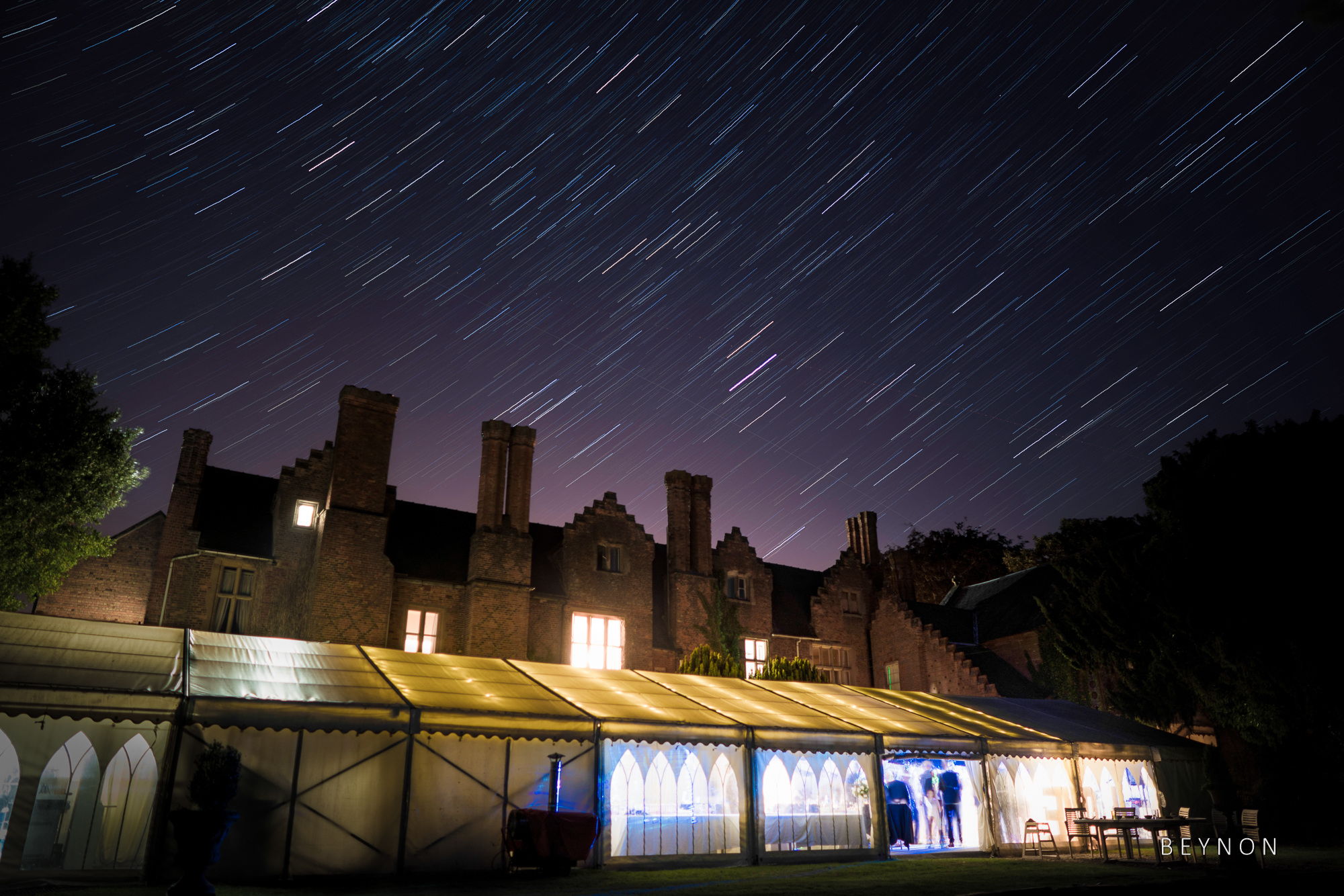Star trails over Grafton Manor