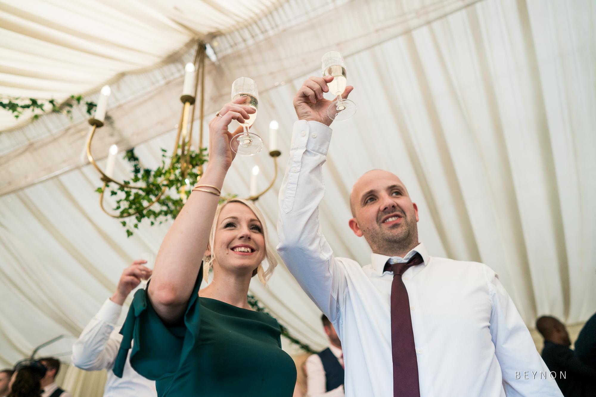 Guests toast a speech