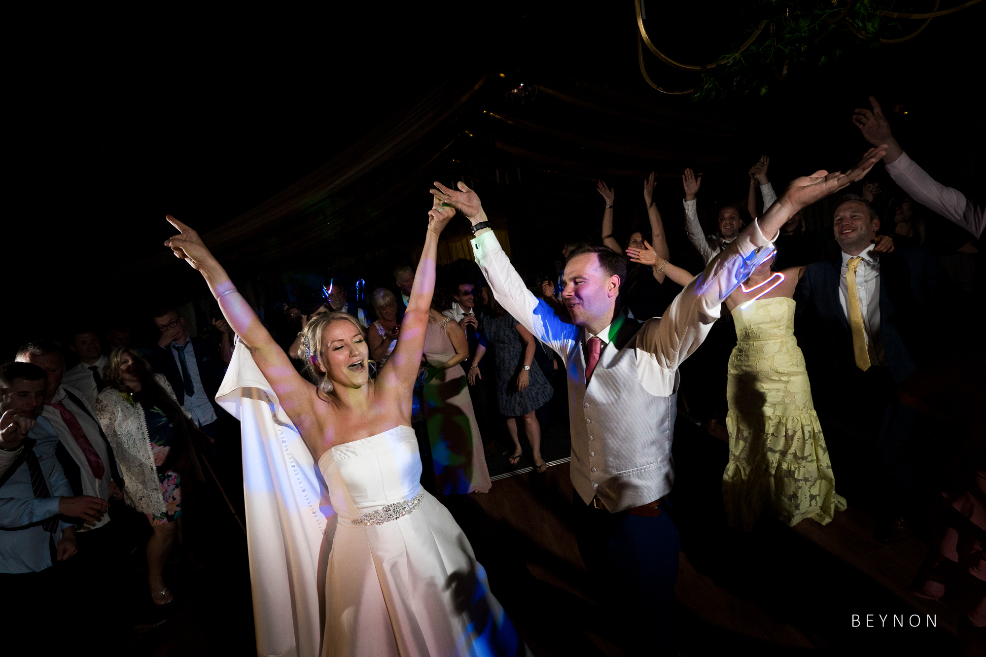 Bride and Groom enjoy music at Wedding Reception