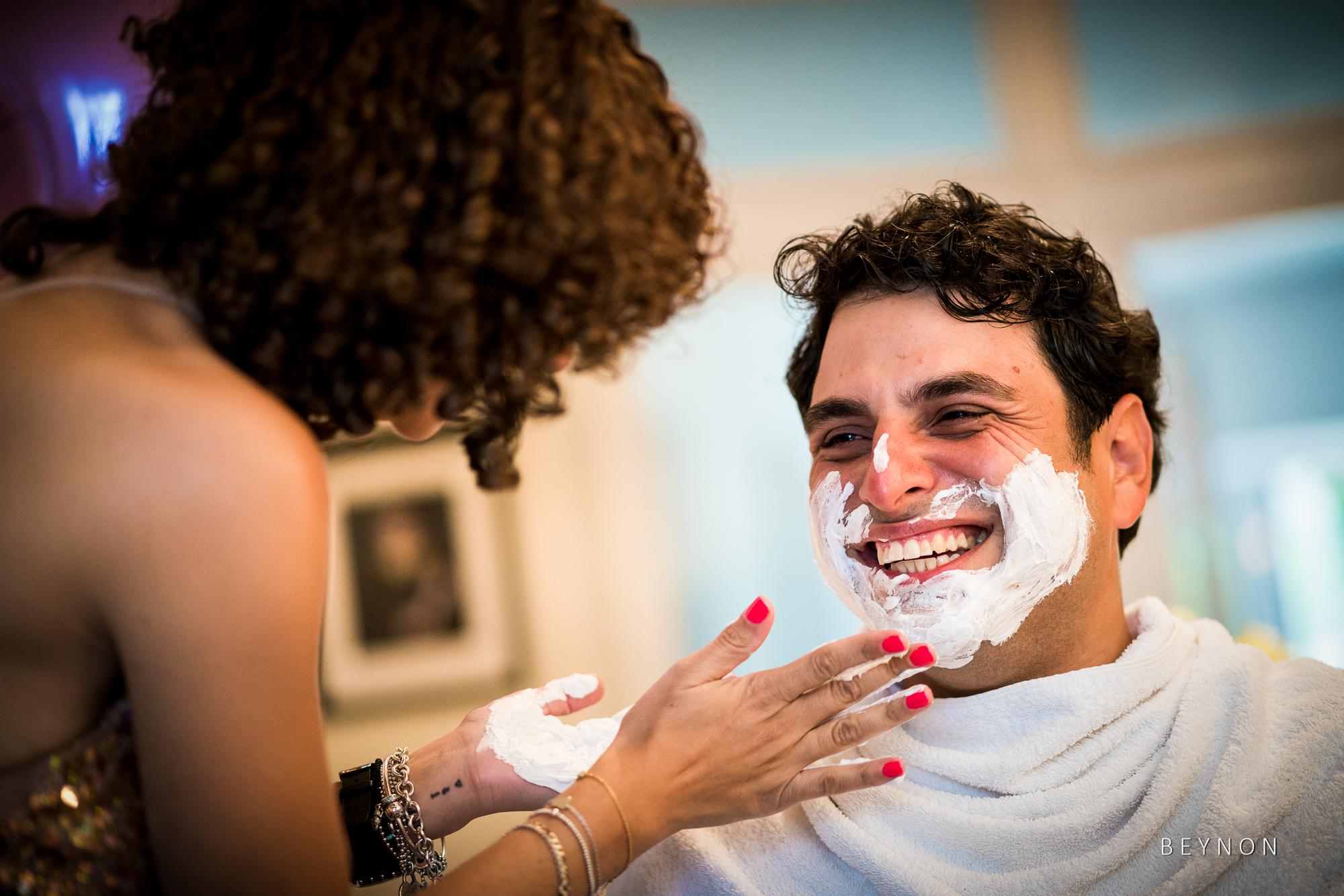 Shaving the groom