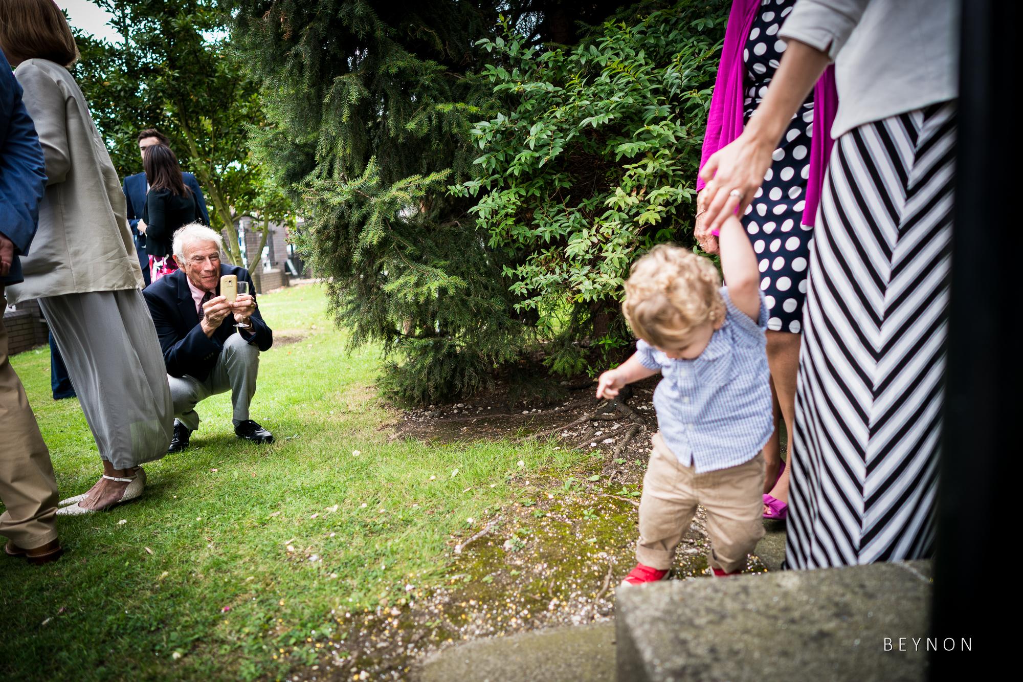 Guests take photographs
