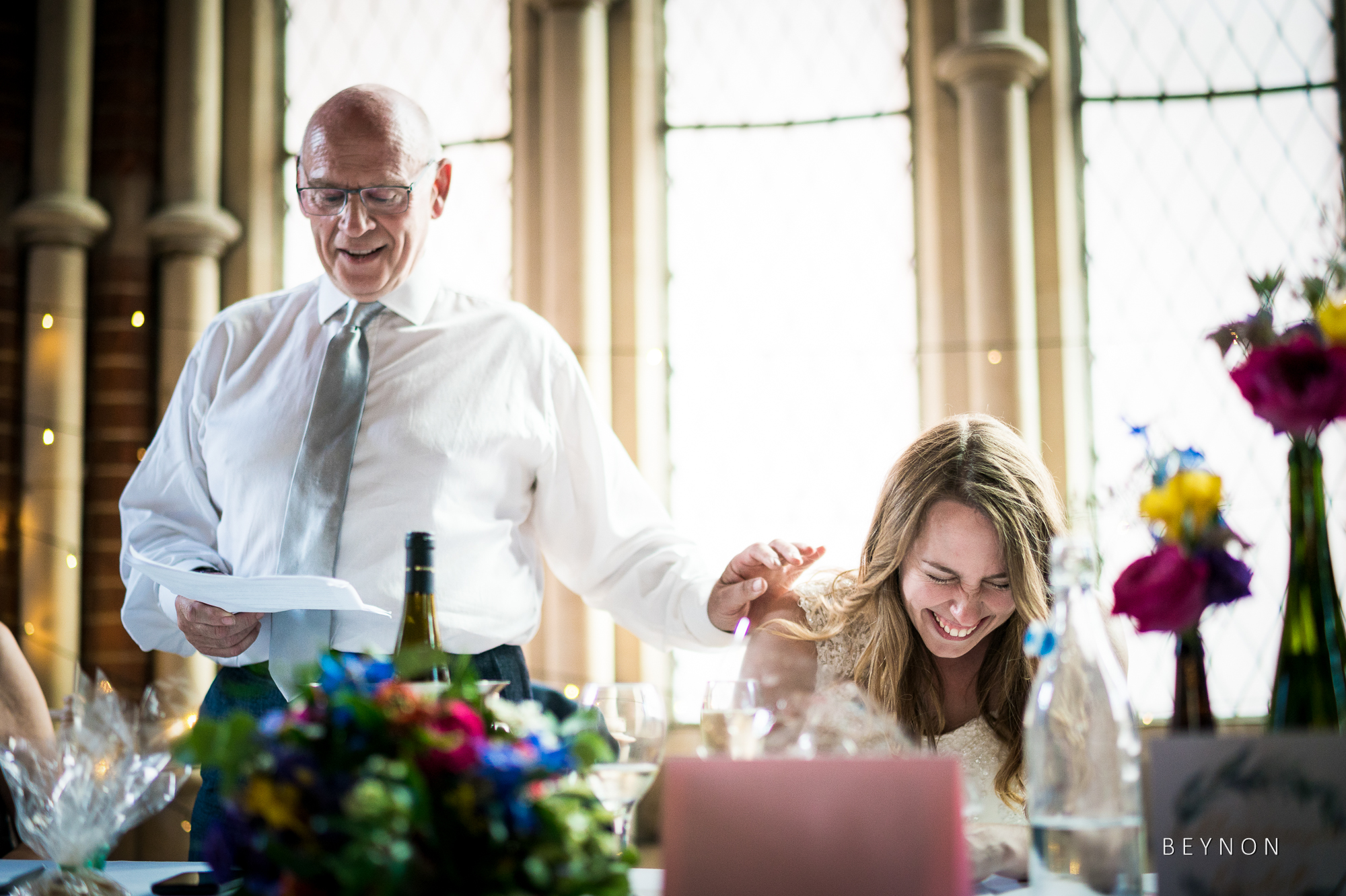 Father of the bride gives his speech