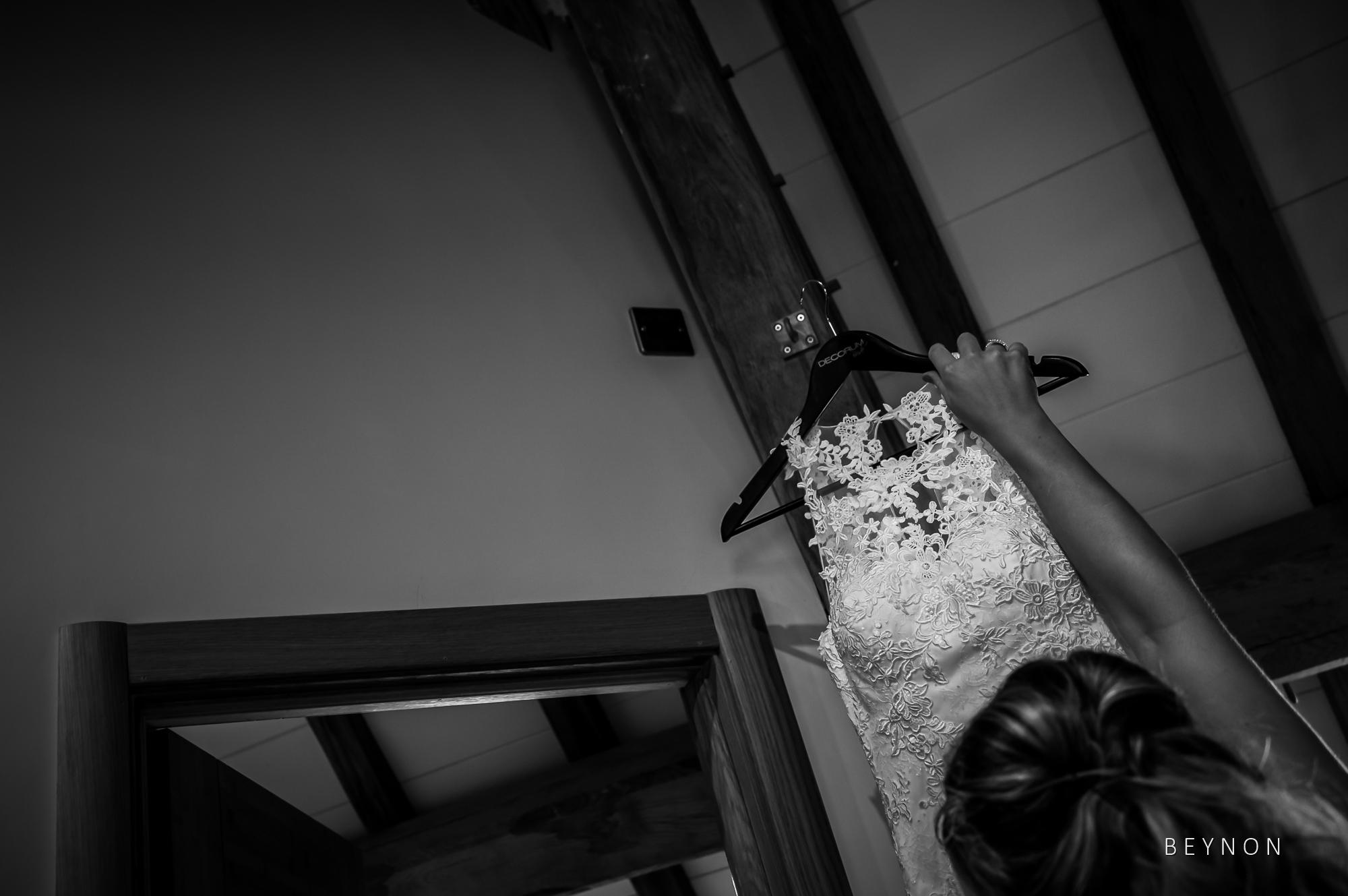Bride gets dress down