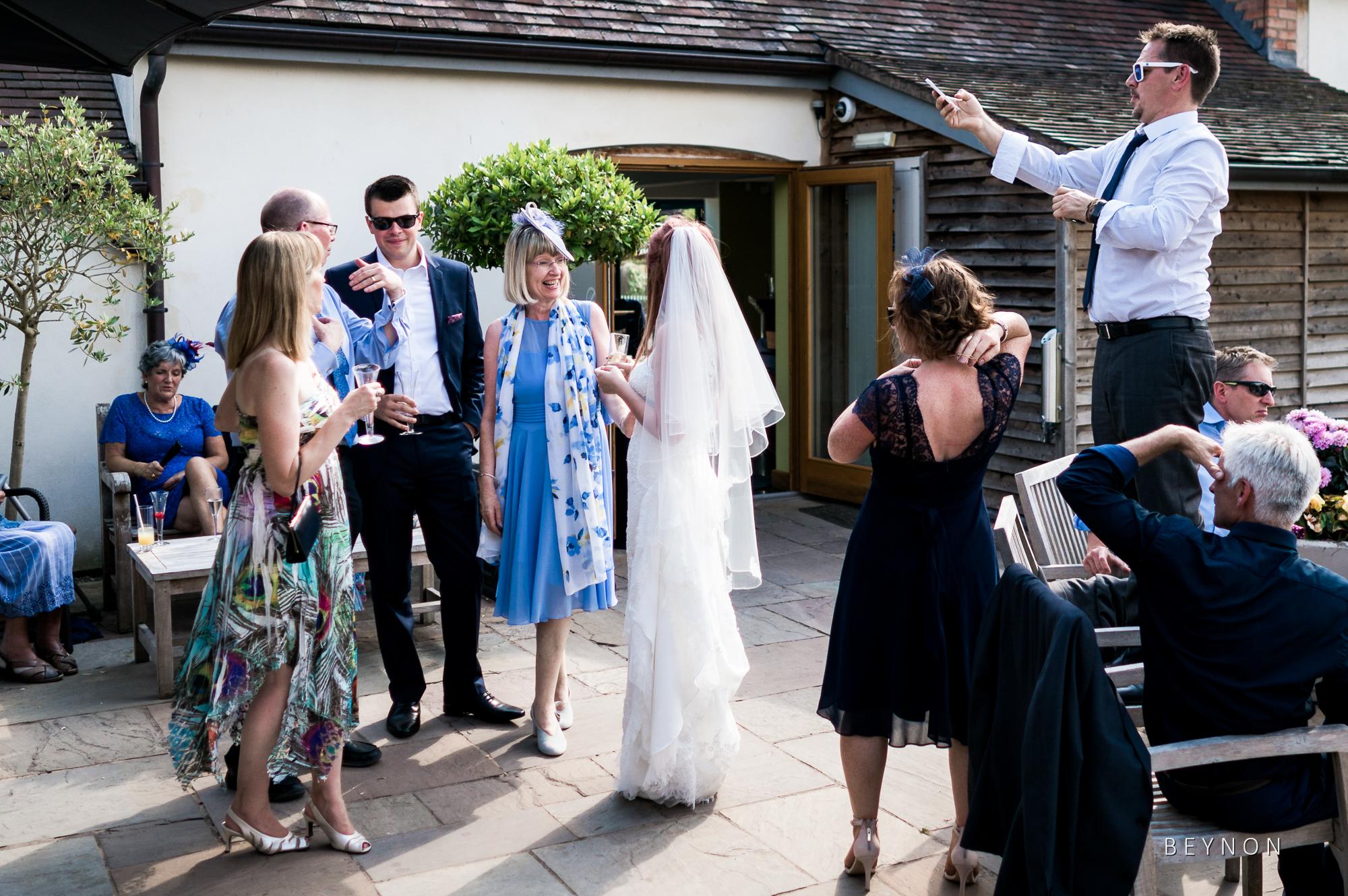 Wedding reception scene
