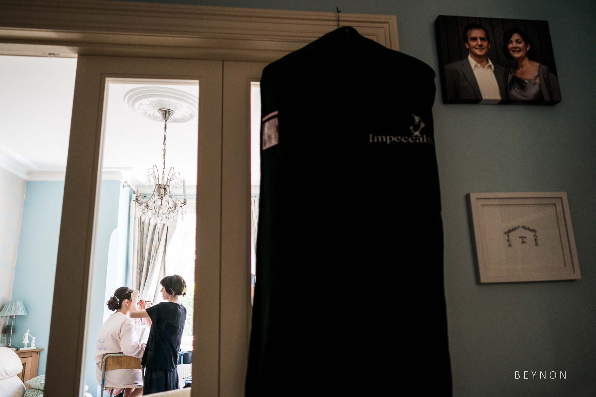 Suit bag hanging up