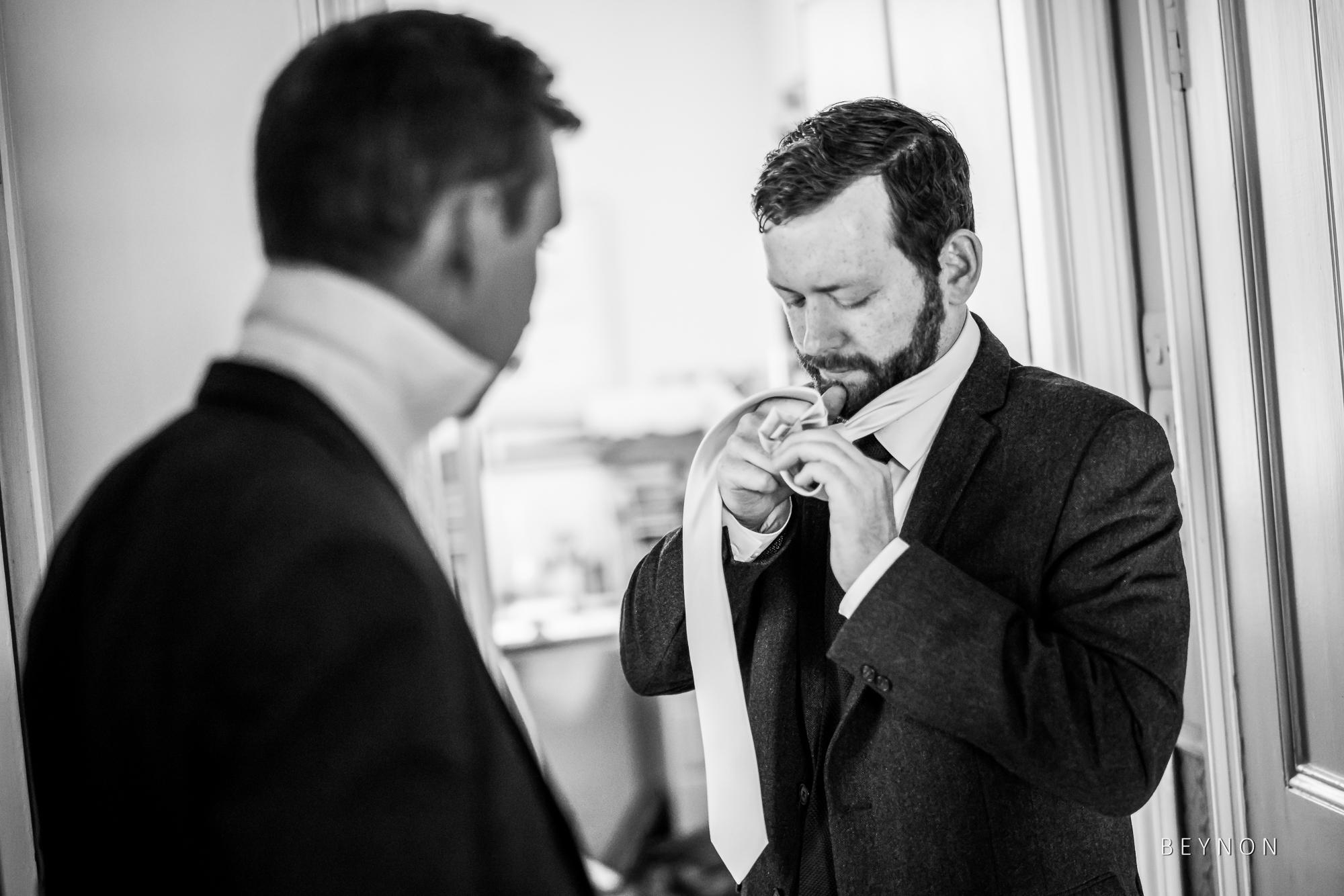 Guests tie their ties