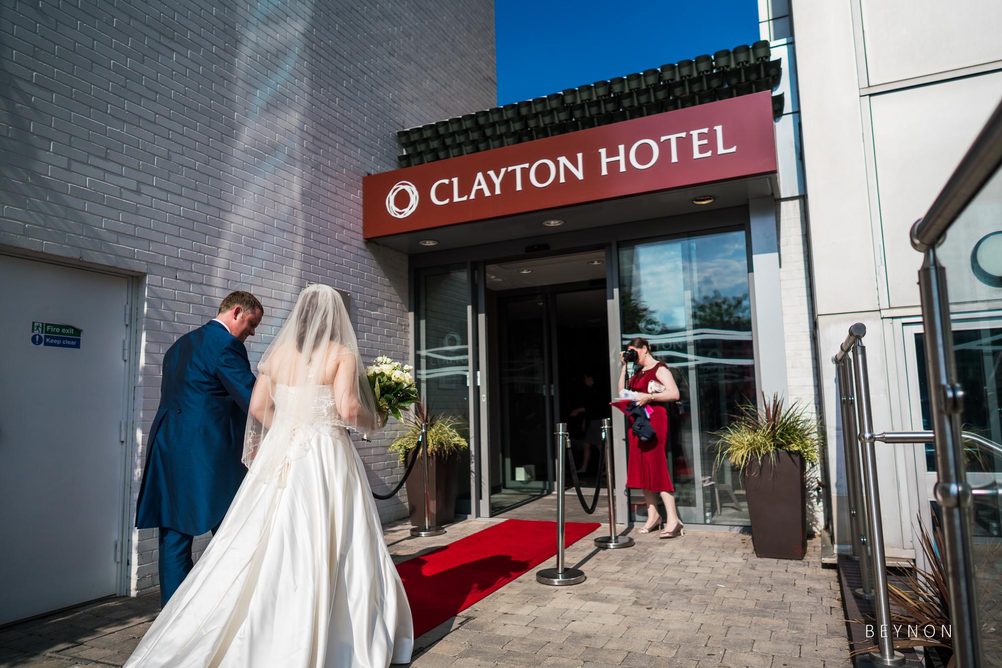 Bride and Groom enter the reception venue