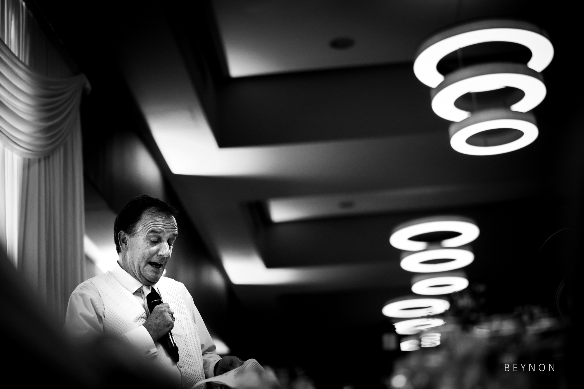Dad gives his speech