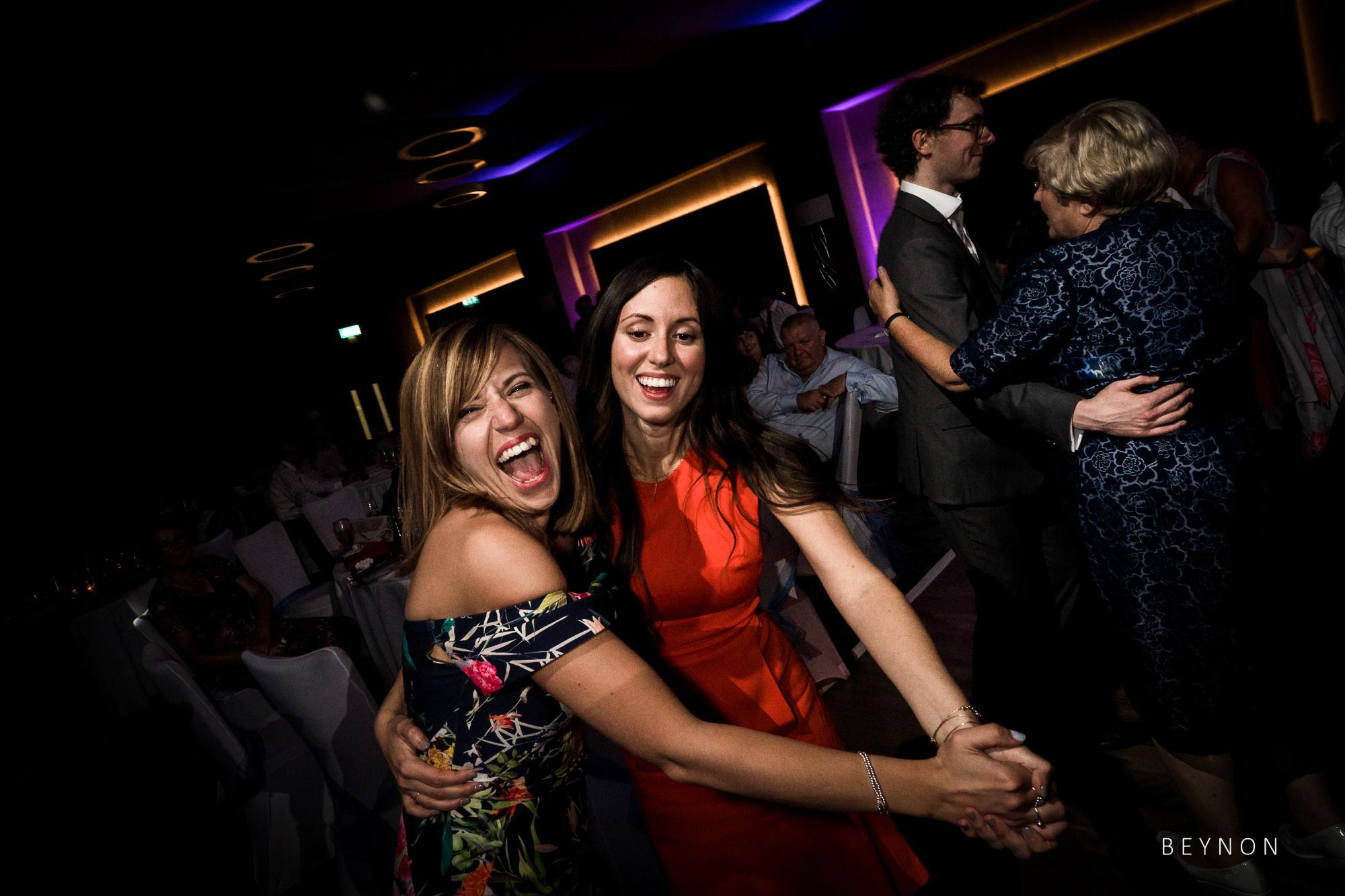 Evening guests love dancing