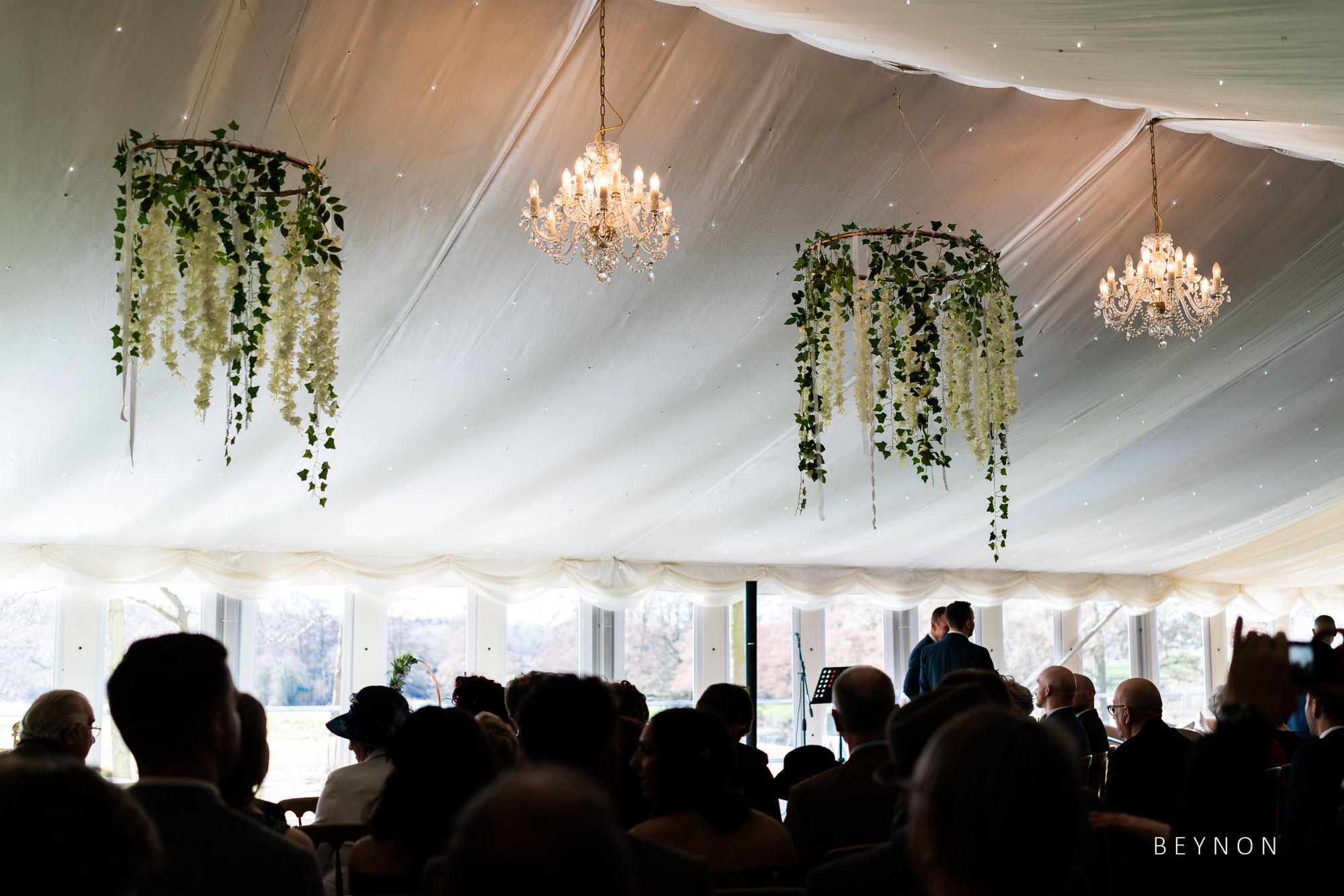 Detail shot of the ceremony room