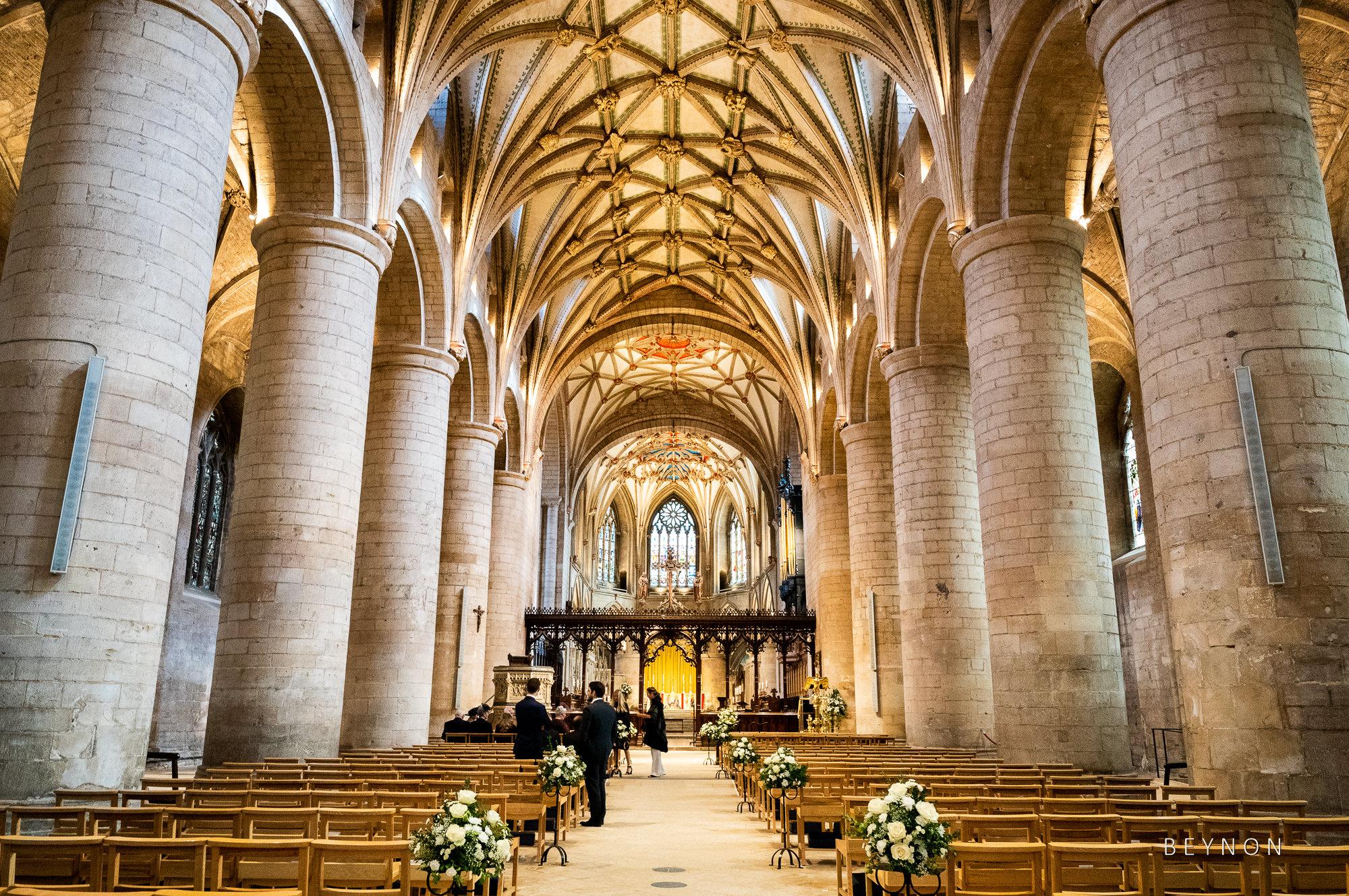 Inside Tewkesbury Abbey