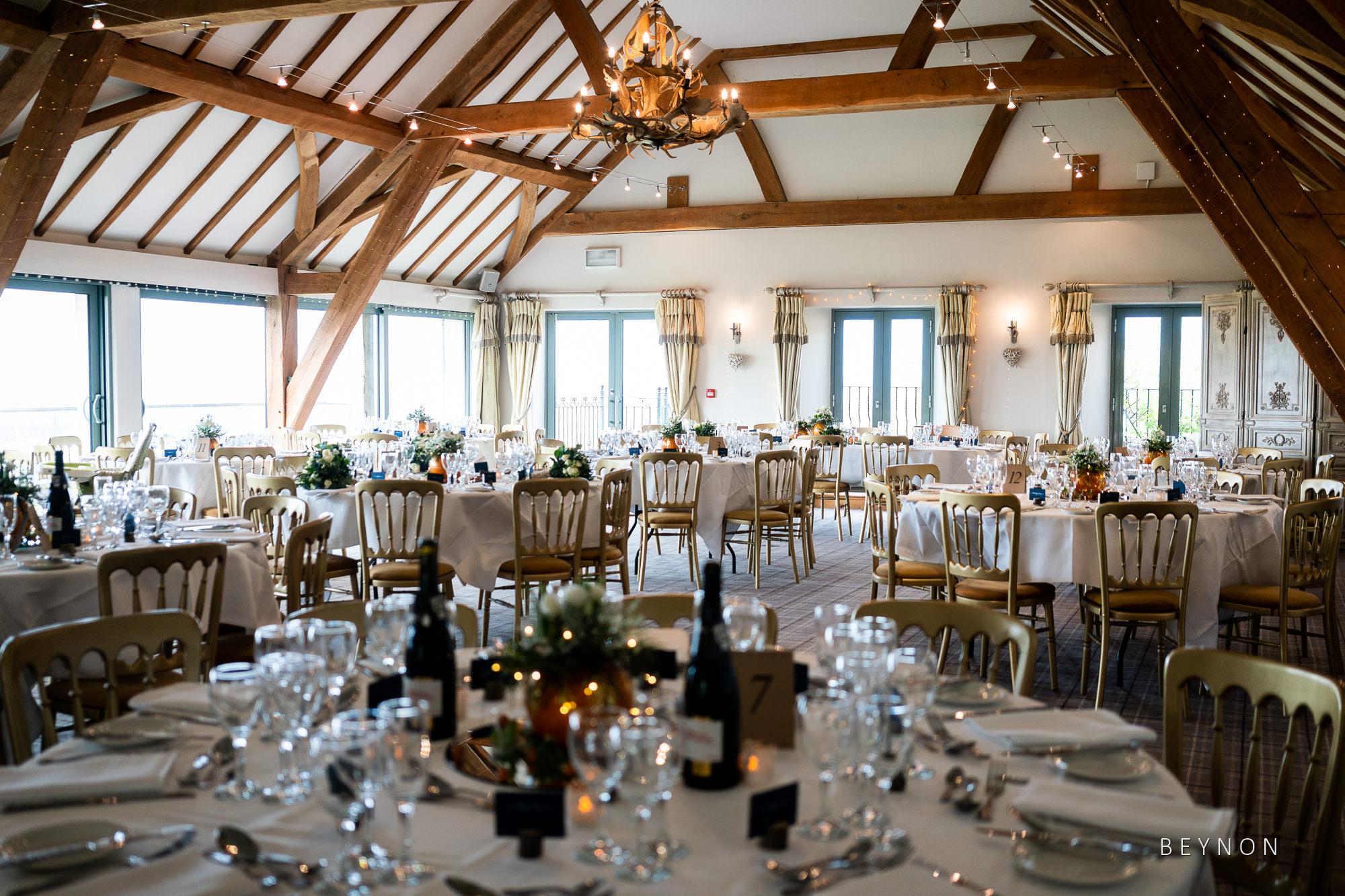 The wedding breakfast room
