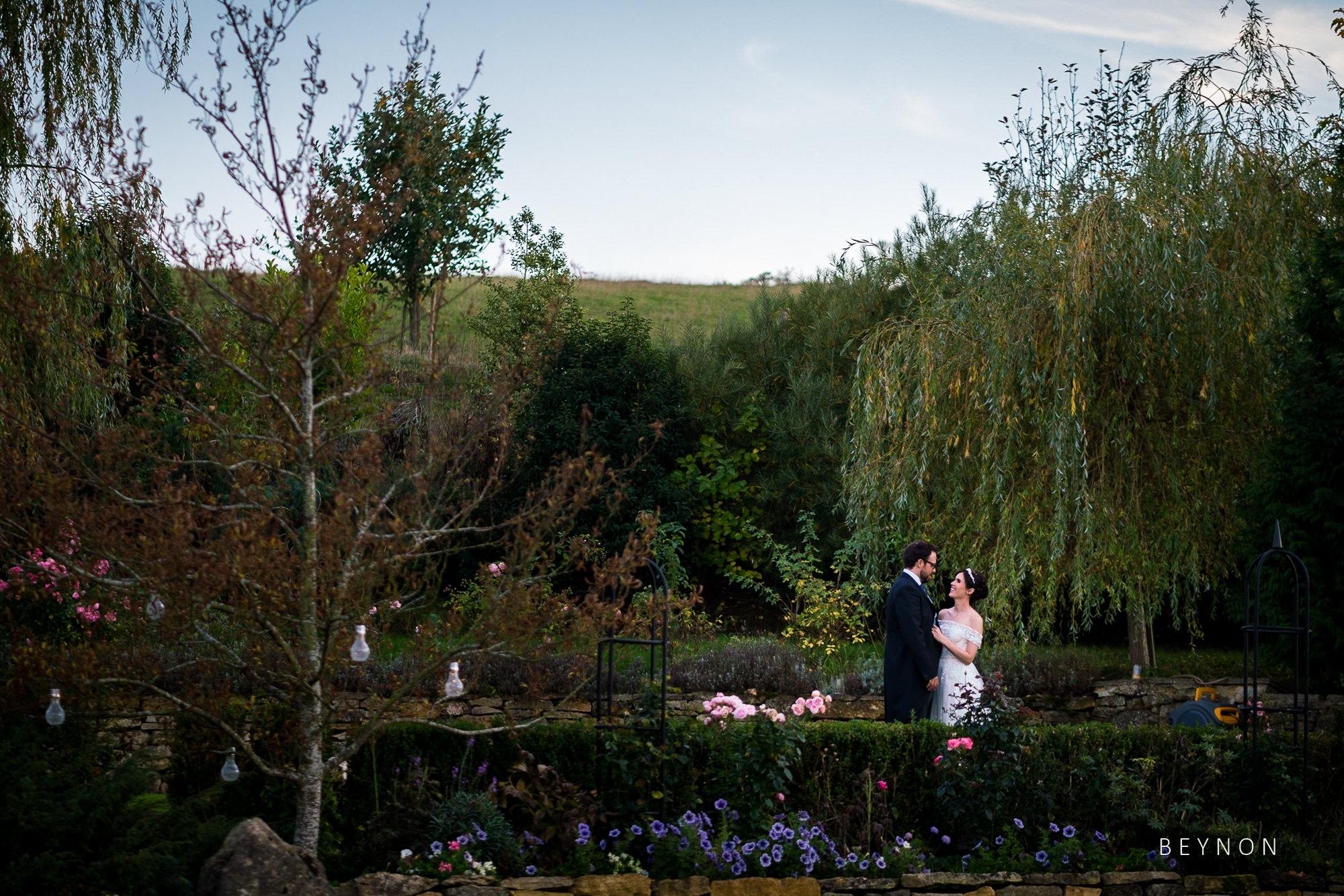 Romantic shot in grounds of Deer Park Hall