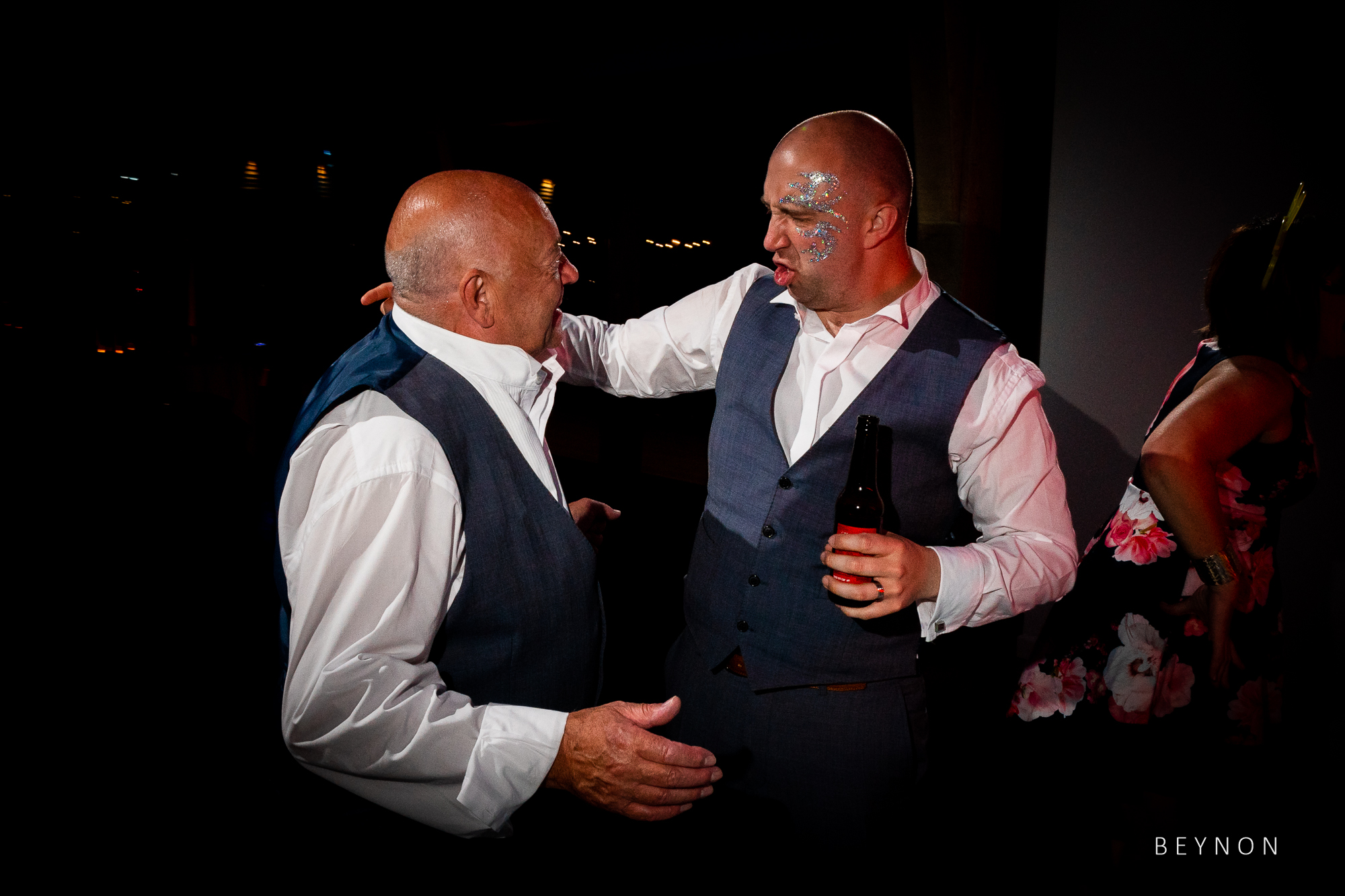 The groom and his dad dance