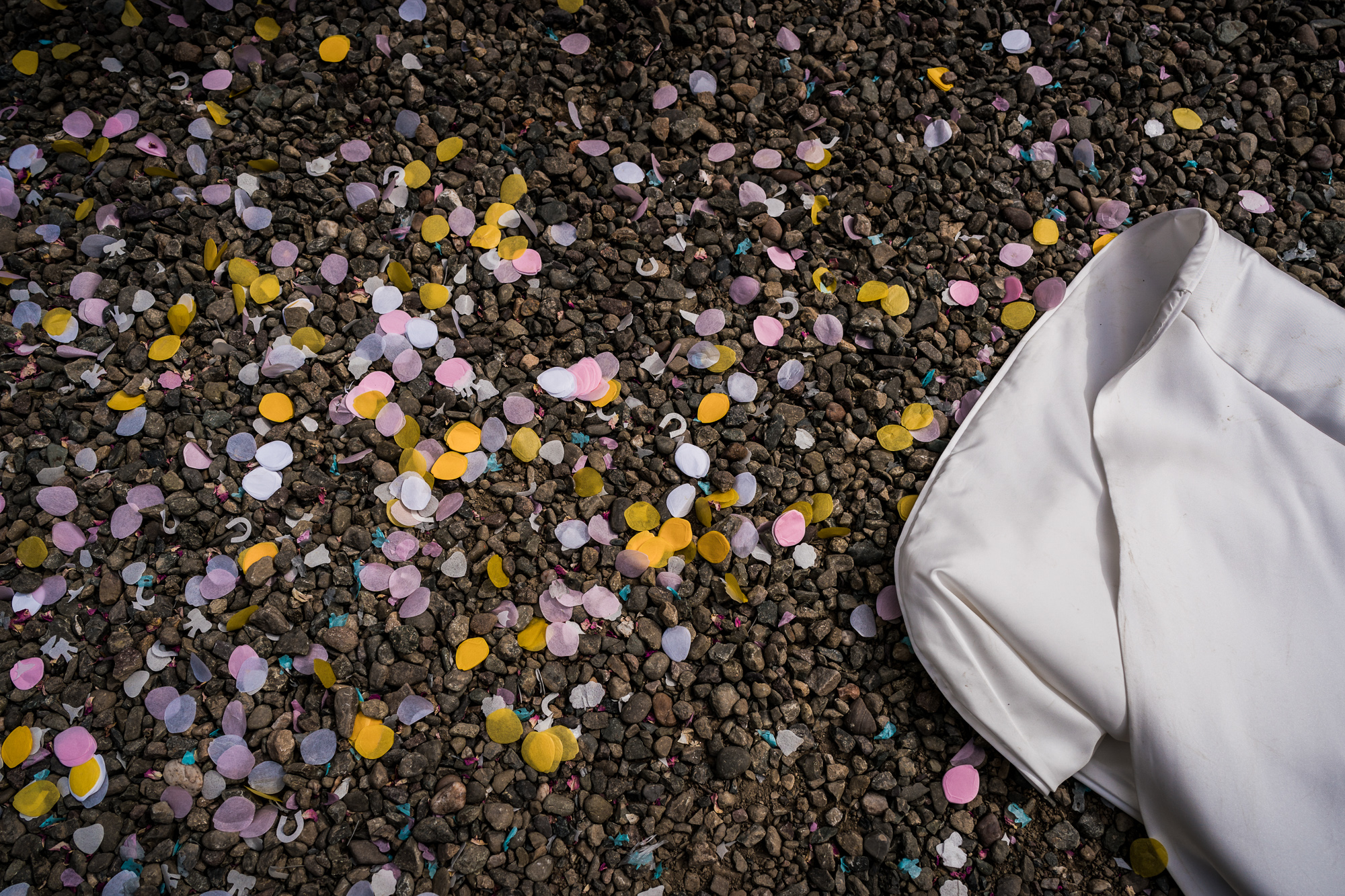 Confetti aftermath.