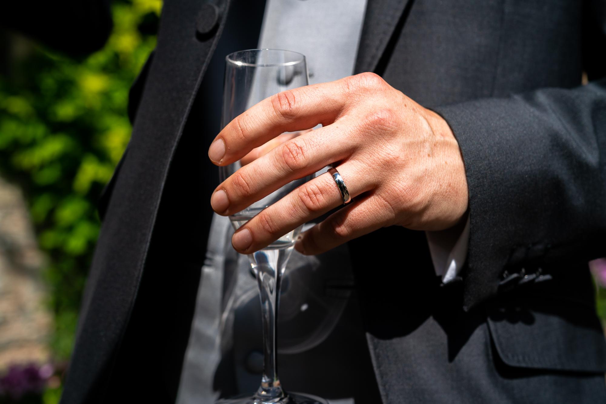 Groom's ring.