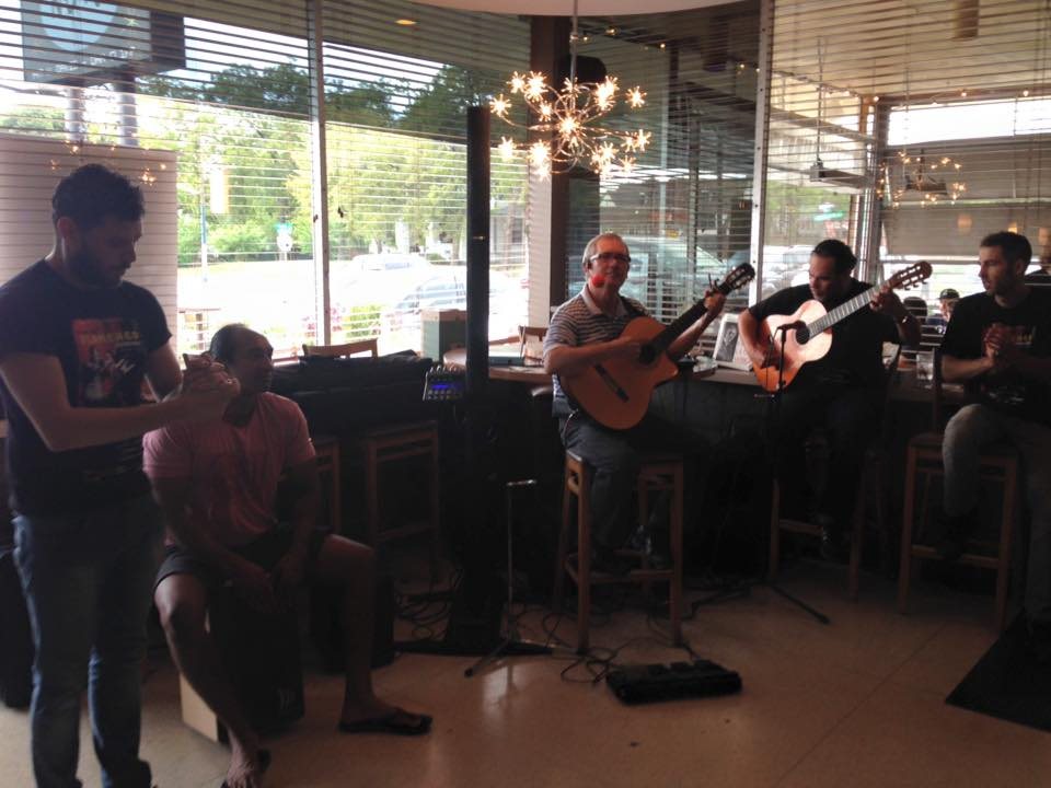 Dallasite Carlos Garcia playing with guest artists for Flamenco Brunch at NOVA.jpg