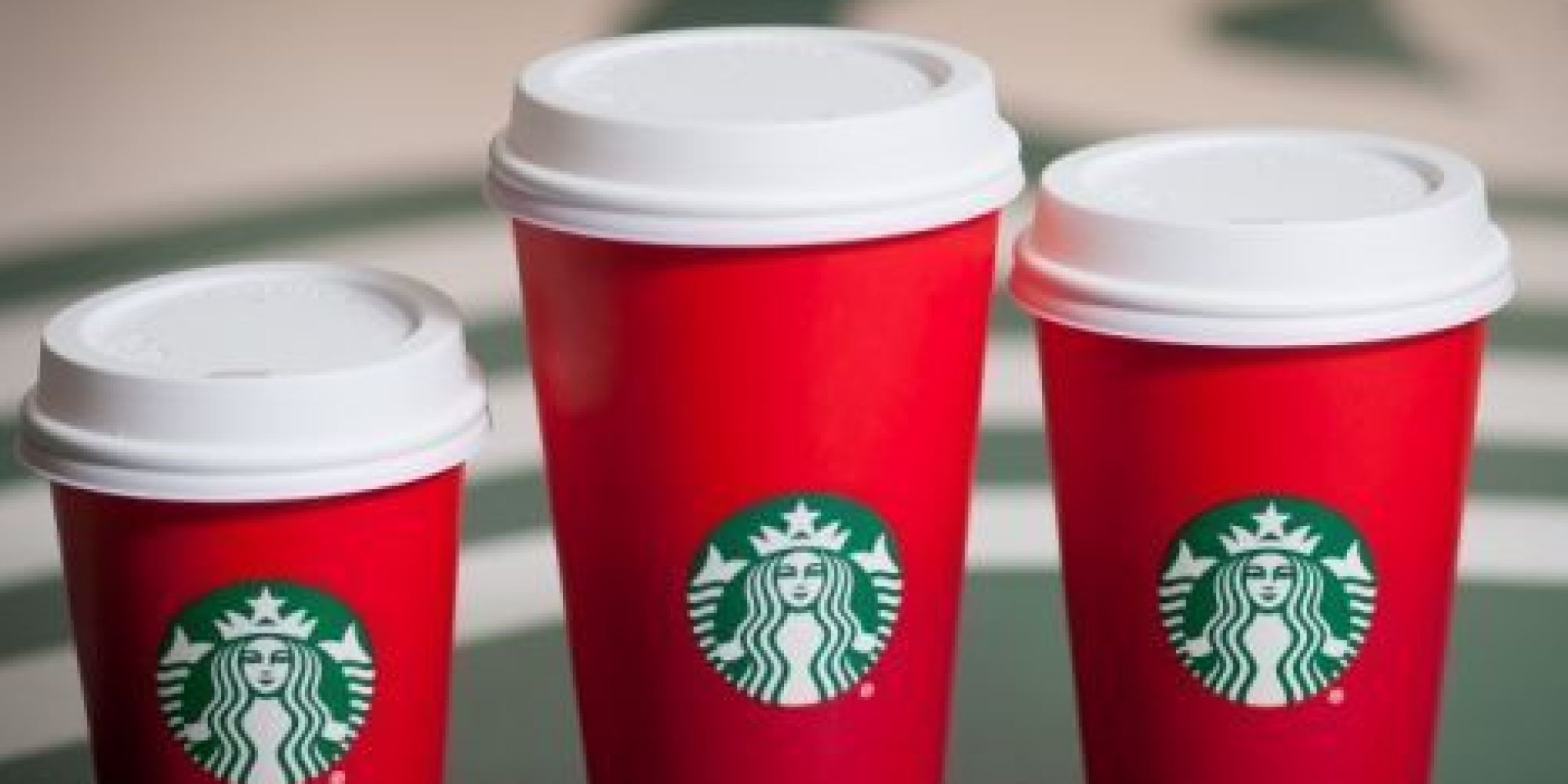 New Starbucks cups. Red...just like the devil.