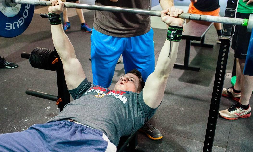 """What do you bench bro?"" Christian lifting at Crossfit Sua Sponte. Photo Credit: Adam Trevillian"