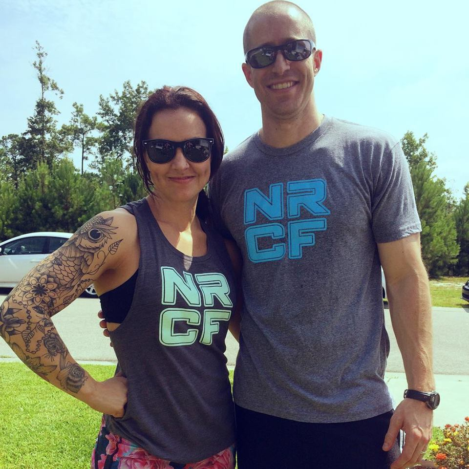 North Raleigh CrossFit owner and coaches. Ashley Thompson Denton and Jonathan Denton.