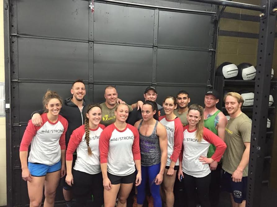 The wild/STRONG Tribe, celebrating a podium sweep at the Bumper Plate Date. Big Thompson CrossFit - Loveland, CO