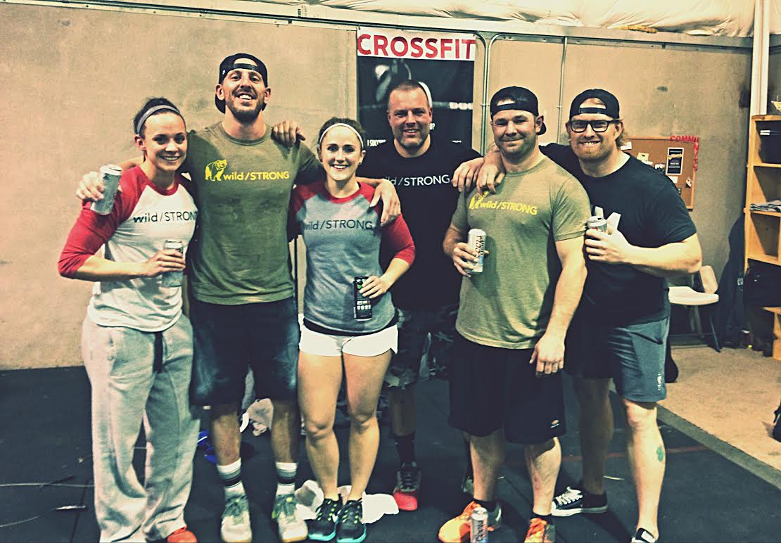 The wild/STRONG Tribe. Enjoying some beverages at CrossFit Endure after completing 16.2 on the wild/STRONG Open Tour.
