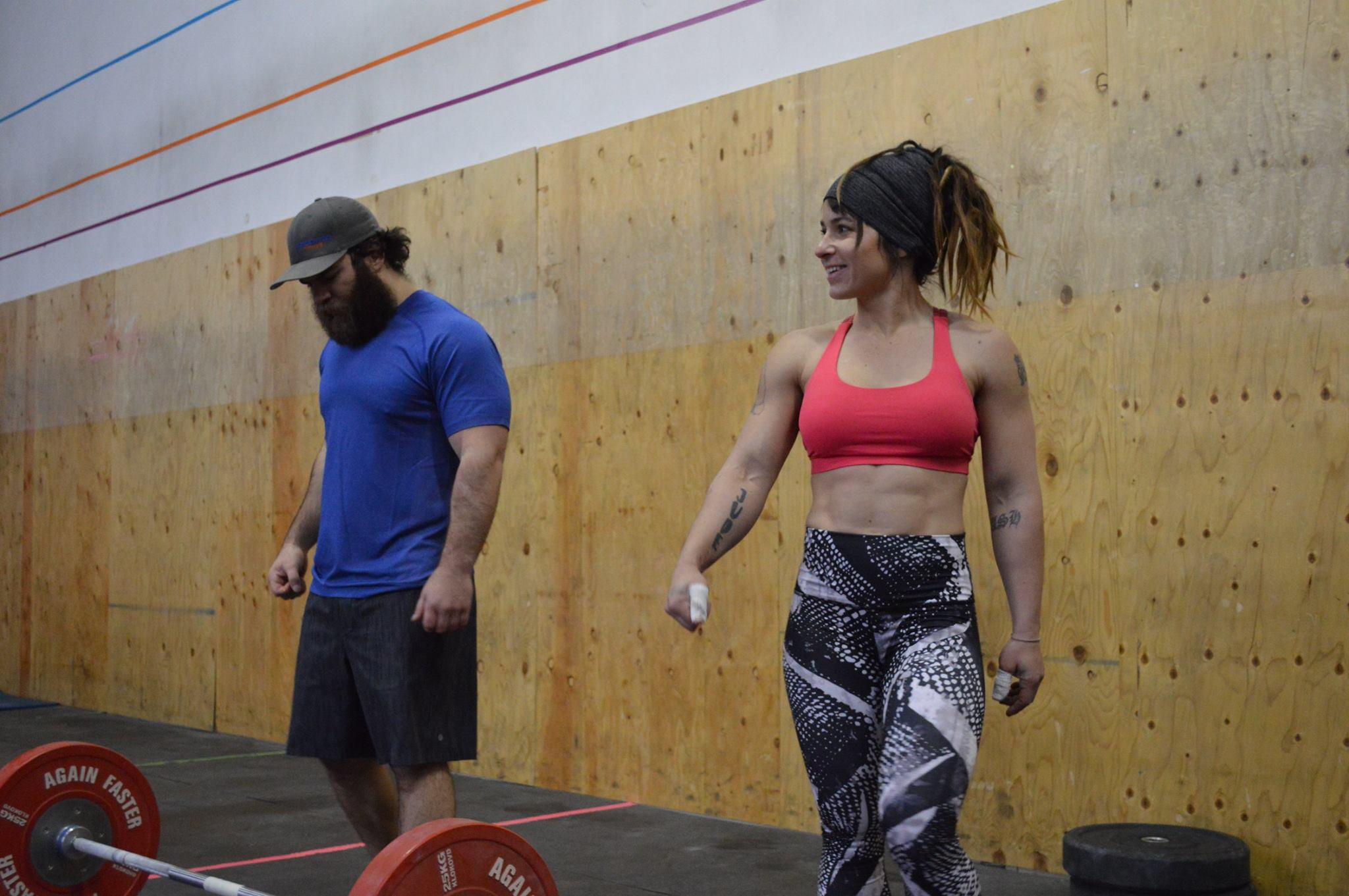 Jared with his girlfriend Tamara Gray. The couple owns and operates CrossFit Pandora's Box in Colorado Springs, CO. the host for the wild/STRONG Open Tour Week 4.