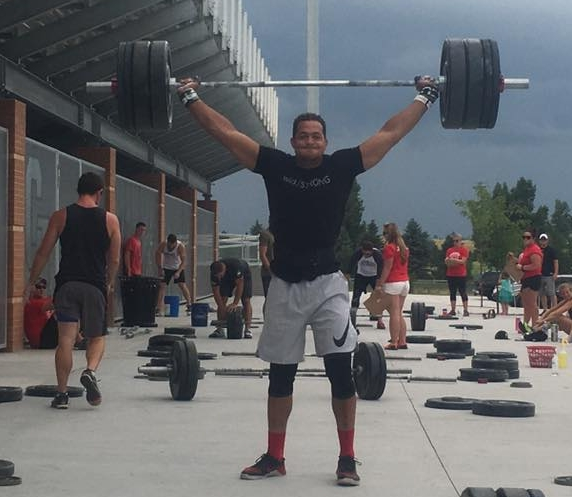 Bennett snatching 270lbs to win another event at this year's Wyoming Open.