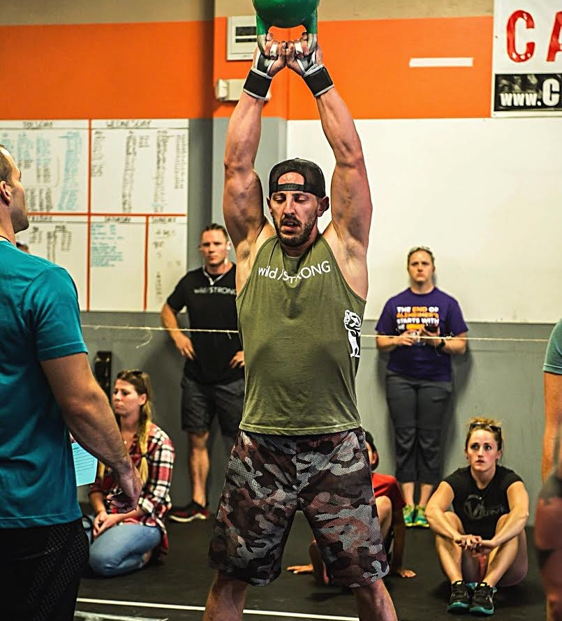 The first round of kettlebell swings felt fine. By the time I got to the second round, I just didn't want it anymore. Photo Credit: Amie Jindra - Dynamic Range Photography.