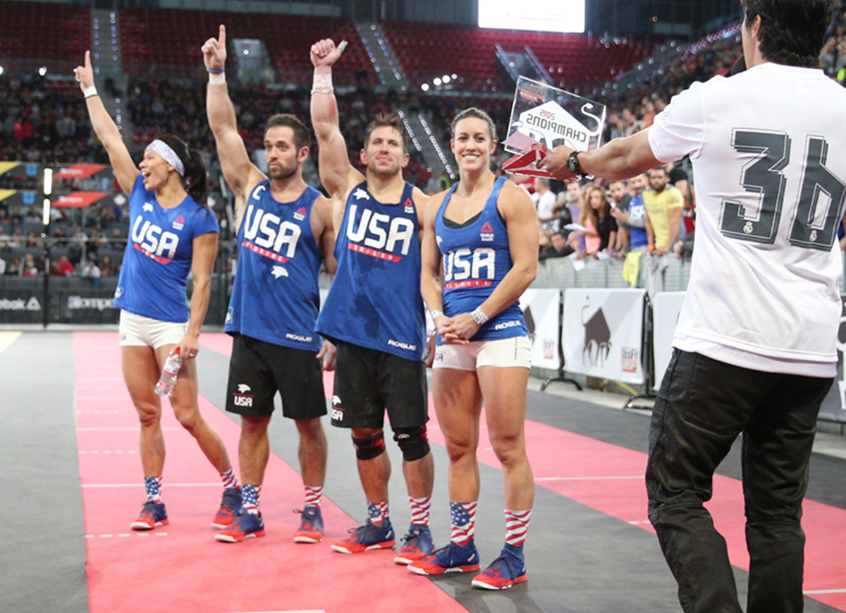 Team USA at the 2015 CrossFit Invitational - this year's team was sponsored by Paleoethics - with Progenex absent from the event.