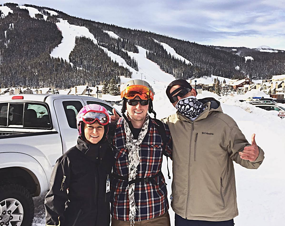 Guest writer Christian Strong (Center) with girlfriend Skye Pawlik and me. Copper Mountain, CO. Christmas 2016