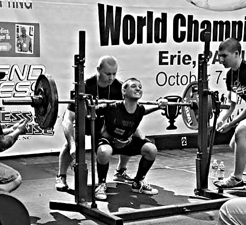 Casey Walker, at age 12, setting a world record squat at nearly 300lbs