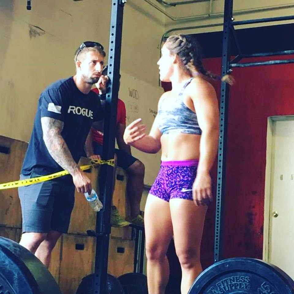 Dark Horse Performance Founder Justin Biays with athlete Tori Alemany.