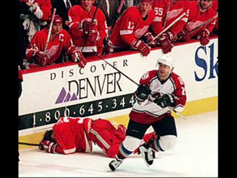 Claude Lemieux skates away after re-arranging Kris Draper's face - and starting one of the greatest rivalries in sports history.