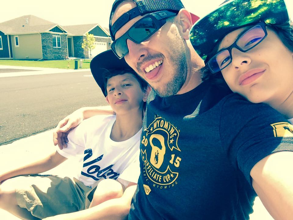 With my sons. I've taught them from an early age that nobody will fight your battles for you and sometimes violence is the only answer.