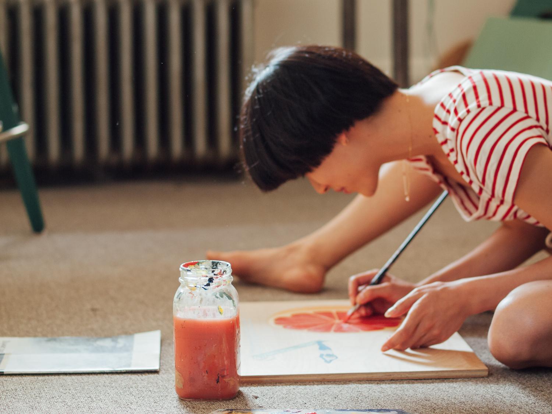 Artist Shirley Liu // home studio