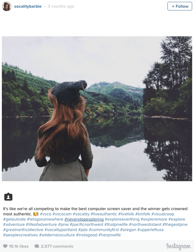 Hipster Instagram Barbie Fake Social Media