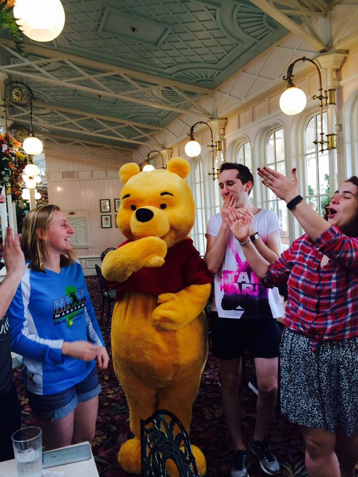 Kudos to the well-trained Disney staffer who caught my friends and I SO happy to see Winnie-the-Pooh.
