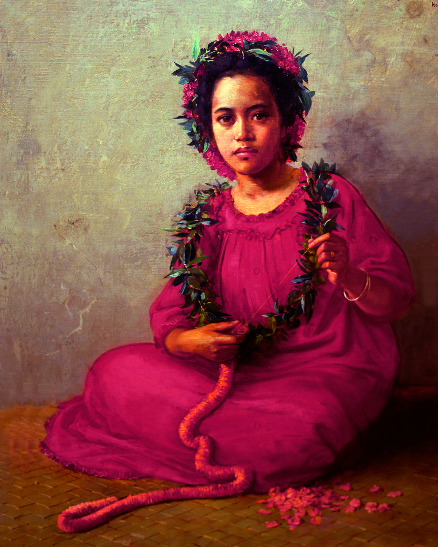 HAWAIIAN WOMAN SEEN AT THE HONOLULU MUSEUM OF ART