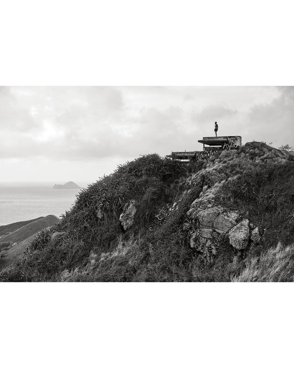 A MORNING RUNNER ON TOP OF PILLBOX TWO