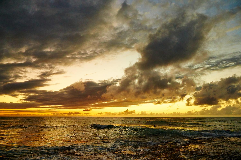 SUNSET AT TURTLE BAY RESORT