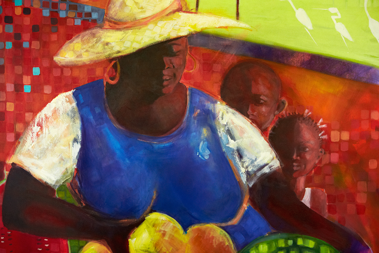 ONE OF MANY BEAUTIFUL PAINTINGS BY ROSY CAMERON, BASSETERRE