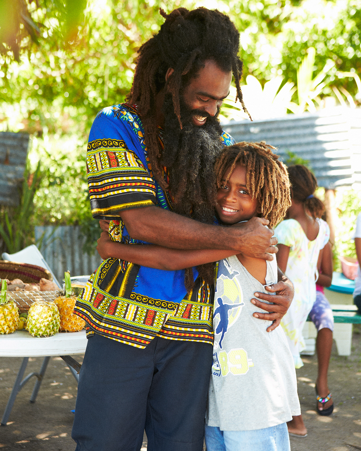FARI WITH ONE OF HIS LOVING SONS