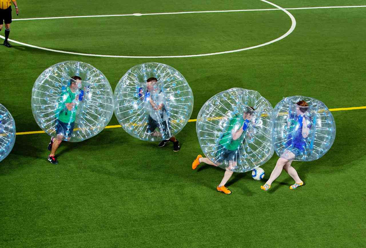 Bubble Soccer in a stadium